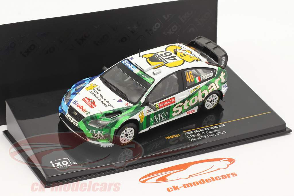 Ford Focus RS WRC #46 Wales GB se rallier 2008 Rossi, Cassina 1:43 Ixo