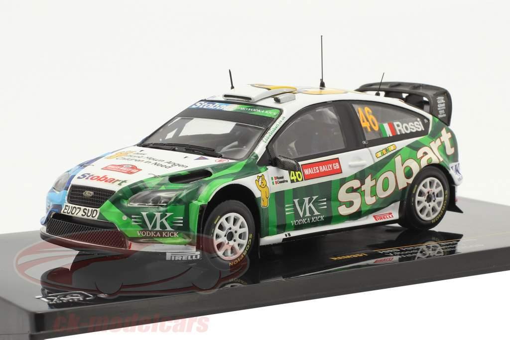Ford Focus RS WRC #46 Wales GB corrida 2008 Rossi, Cassina 1:43 Ixo