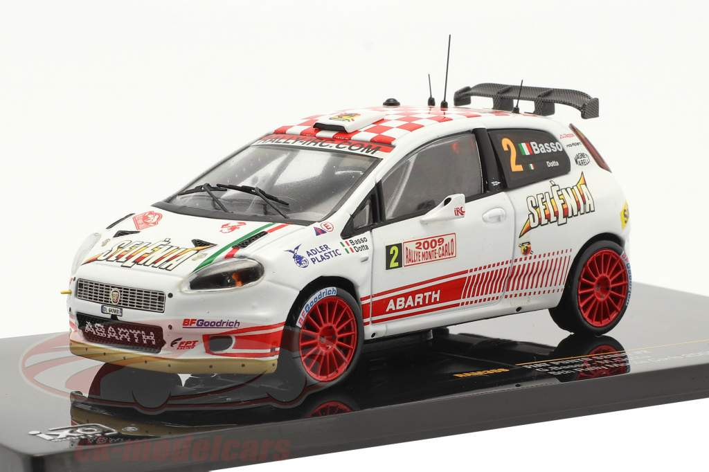 Fiat Punto S2000 #2 5. plads Rallye Monte Carlo 2009 Basso, Dotta 1:43 Ixo