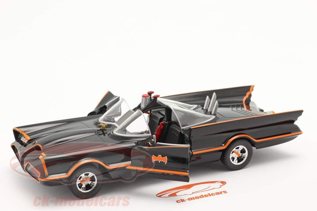 Batmobiel Klassiek TV Serie Batman (1966) zwart 1:24 Jada Toys