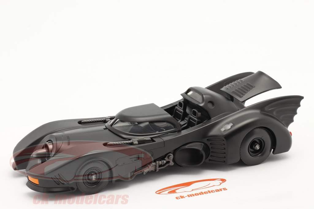 Batmobil Film Batman (1989) mattschwarz 1:24 Jada Toys