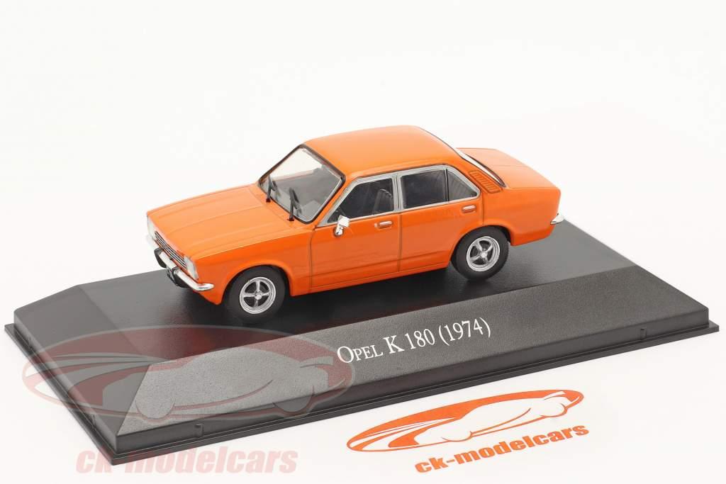 Opel K 180 4-dørs Byggeår 1974 orange 1:43 Altaya