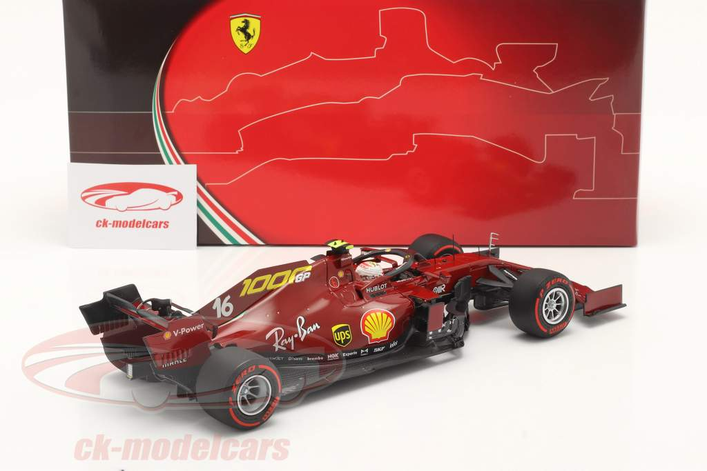 C. Leclerc Ferrari SF1000 #16 1000th GP Ferrari Toskana GP F1 2020 1:18 BBR