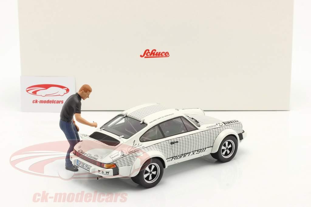 Porsche 911 Walter Röhrl x911 Avec chiffre blanc / noir 1:18 Schuco