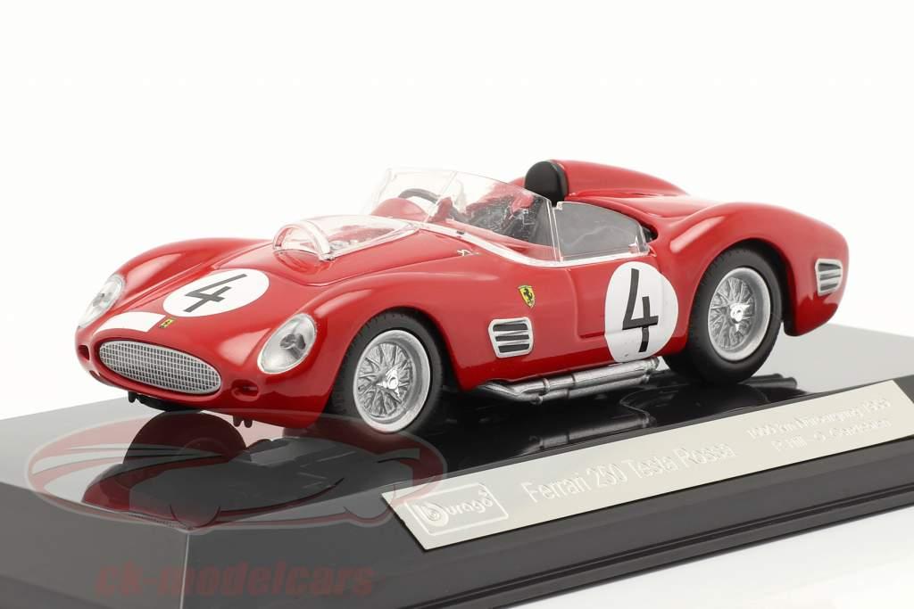 Ferrari 250 TR #4 2do 1000km Nürburgring 1959 Hill, Gendebien 1:43 Bburago