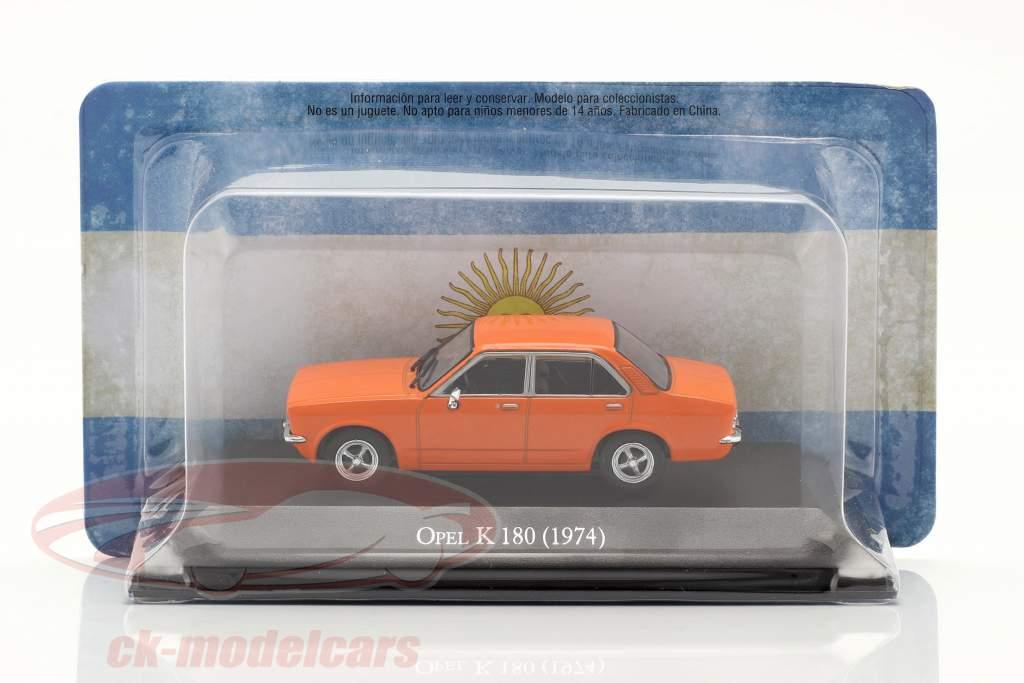 Opel K 180 4 porte Anno di costruzione 1974 arancia 1:43 Altaya