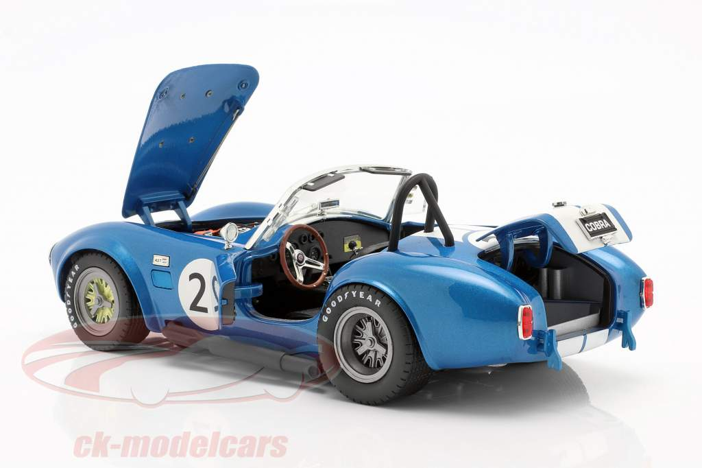 Shelby Cobra 427 Racing #21 1965 blauw / wit 1:18 CMR