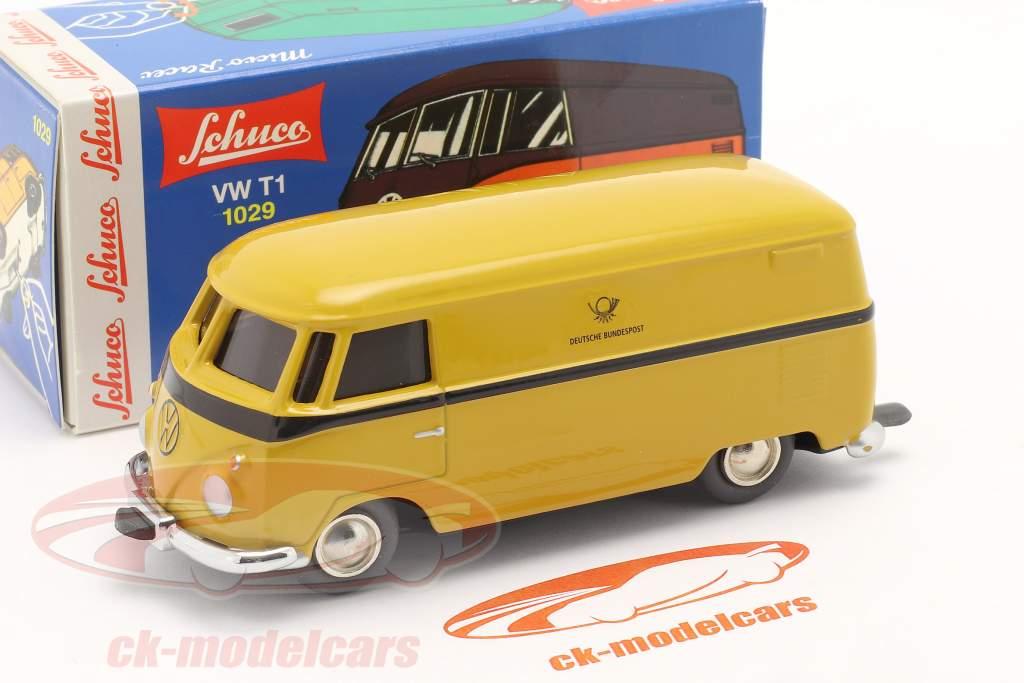 Micro Racer Volkswagen VW T1 Furgoneta caja alemán Correo Federal amarillo 1:40 Schuco