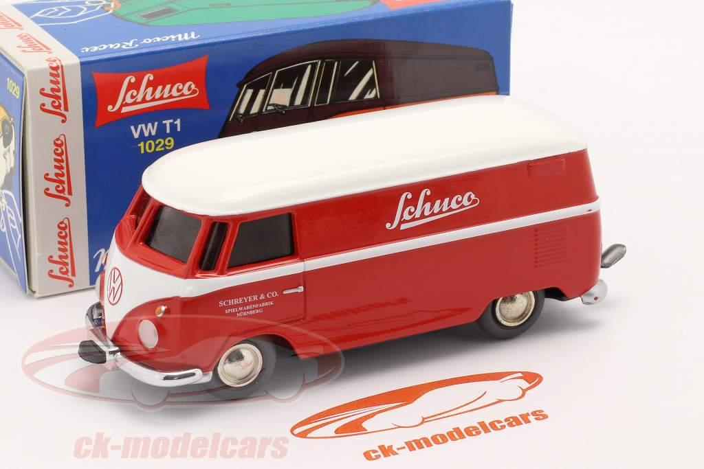 Micro Racer Volkswagen VW T1 Box van Schuco red / white 1:40 Schuco