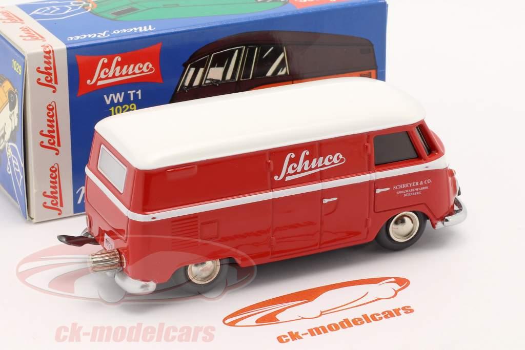 Micro Racer Volkswagen VW T1 Fourgon Schuco rouge / blanc 1:40 Schuco