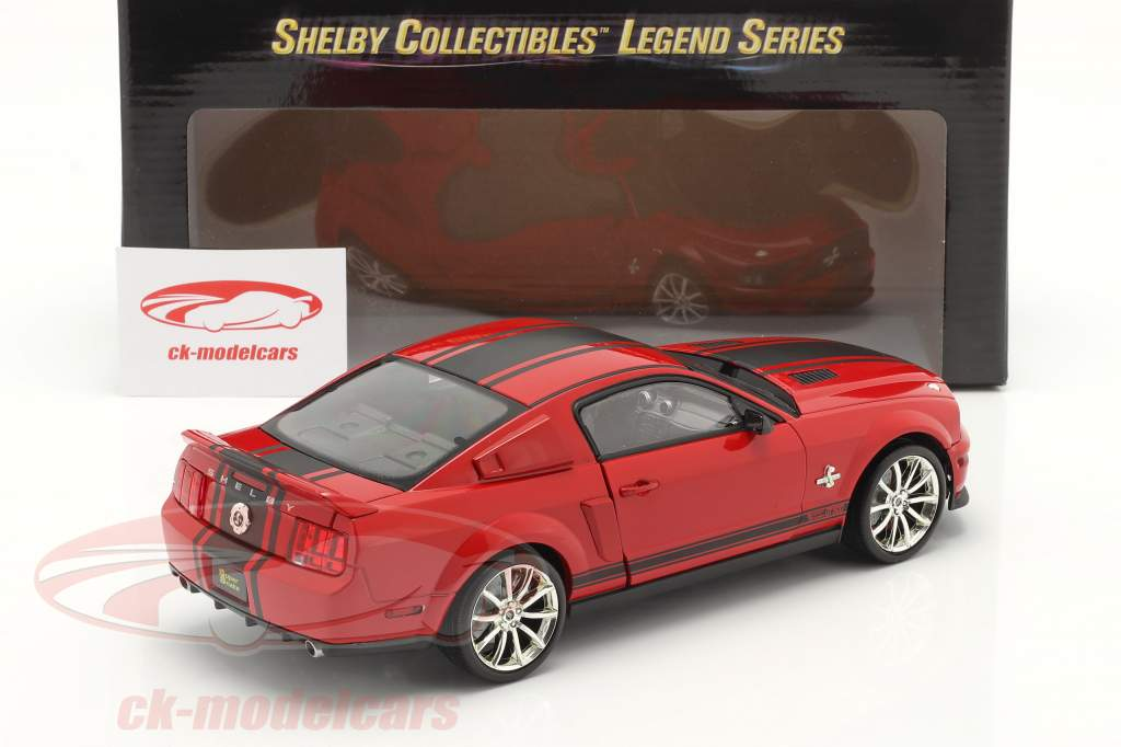 Ford Mustang Shelby GT 500 Super Snake 2008 rot / schwarz 1:18 ShelbyCollectibles