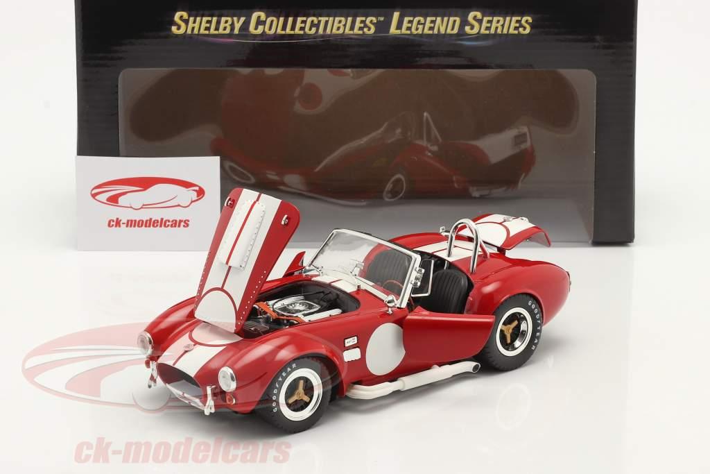 Shelby Cobra 427 S/C Ano de construção 1965 vermelho / Branco 1:18 ShelbyCollectibles