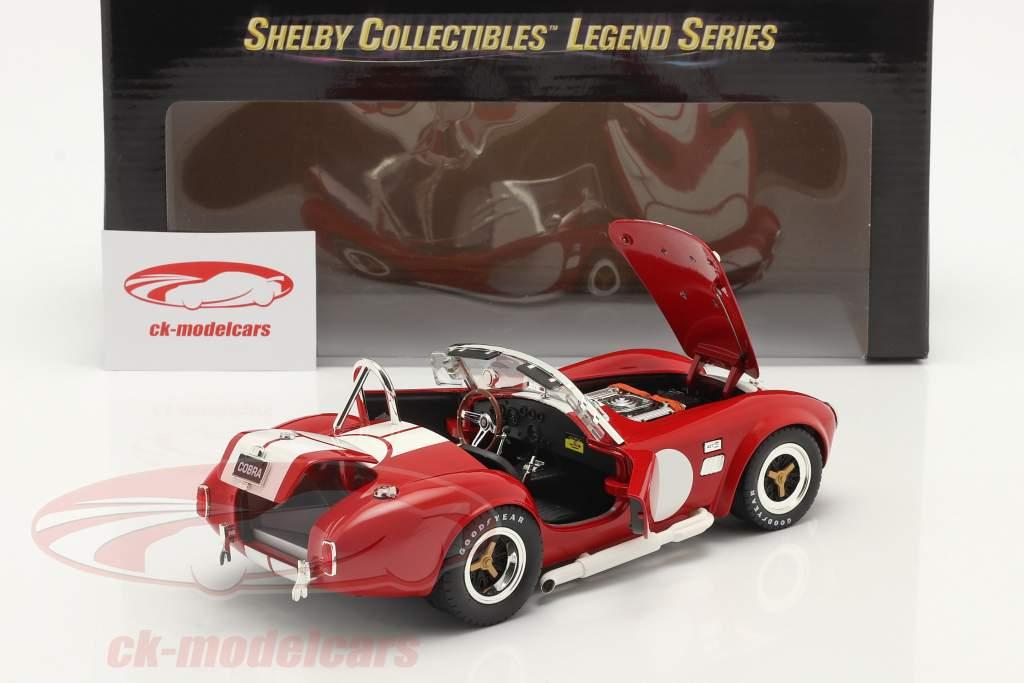 Shelby Cobra 427 S/C Byggeår 1965 rød / hvid 1:18 ShelbyCollectibles