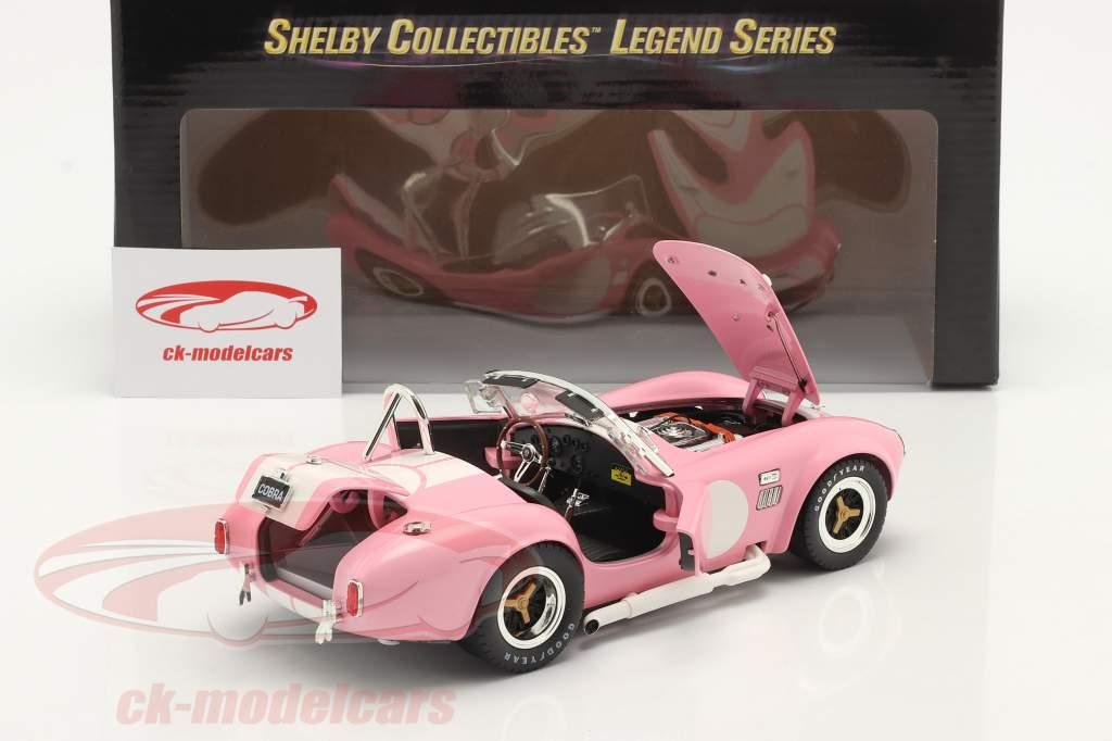 Shelby Cobra 427 S/C Ano de construção 1965 cor de rosa / Branco 1:18 ShelbyCollectibles