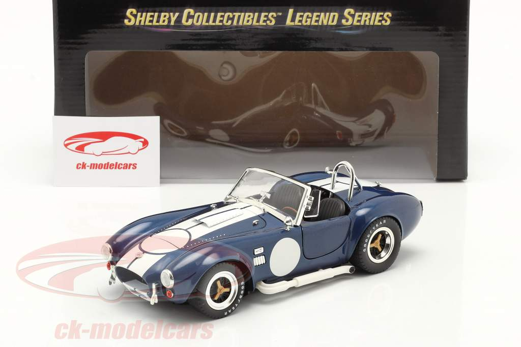 Shelby Cobra 427 S/C year 1965 blue / white 1:18 ShelbyCollectibles