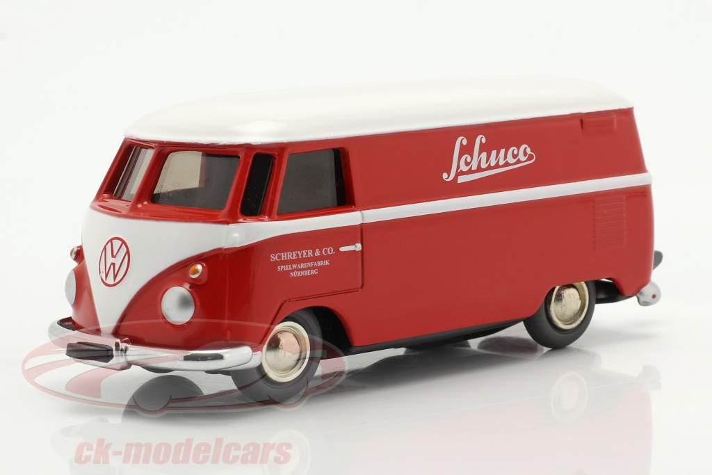 Micro Racer Volkswagen VW T1 Bestelwagen Schuco rood / Wit 1:40 Schuco