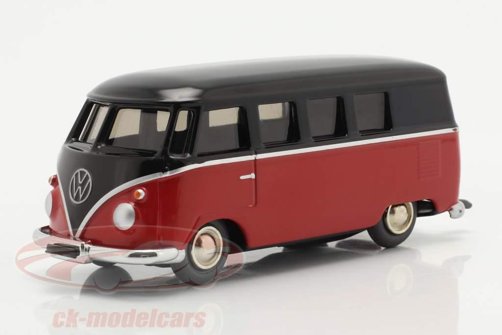 Micro Racer Volkswagen VW T1 ボックスバン 黒 / 赤 1:40 Schuco