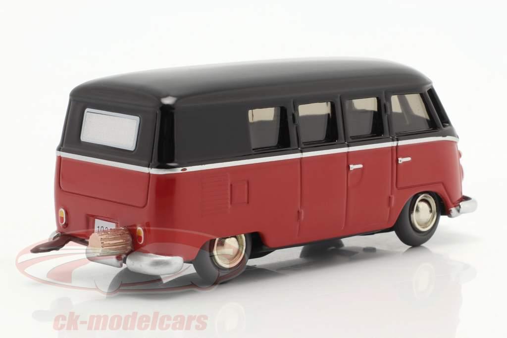 Micro Racer Volkswagen VW T1 Furgoneta caja negro / rojo 1:40 Schuco