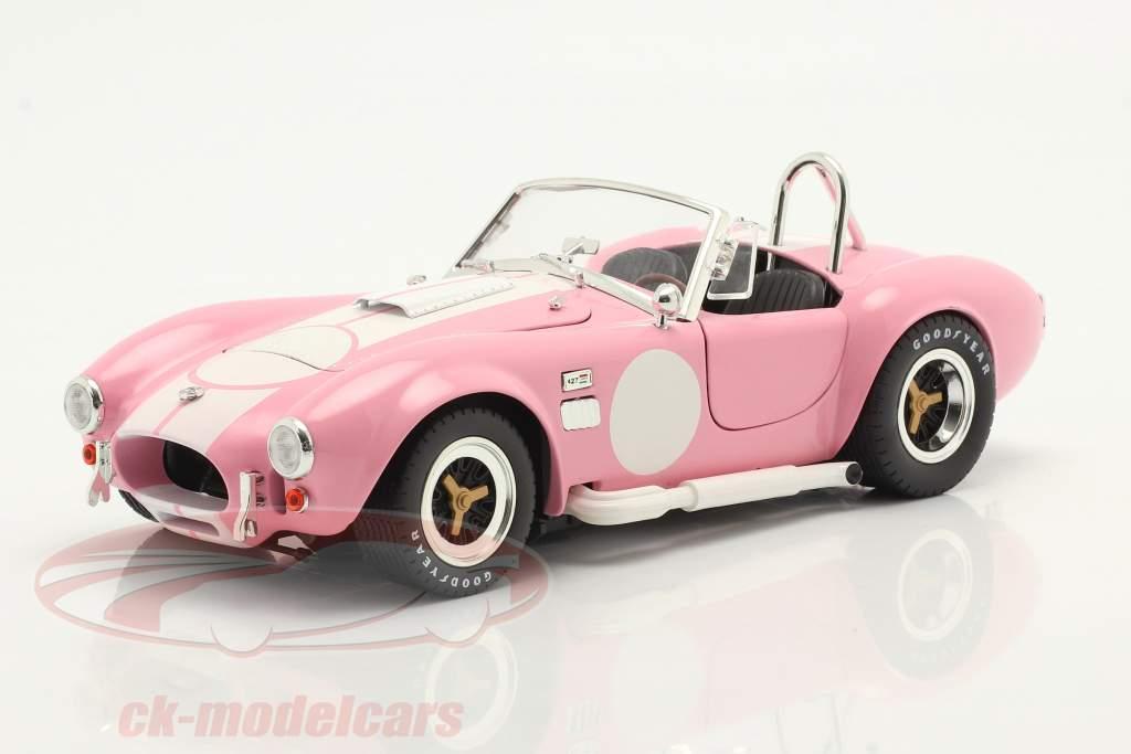 Shelby Cobra 427 S/C Anno di costruzione 1965 rosa / bianca 1:18 ShelbyCollectibles