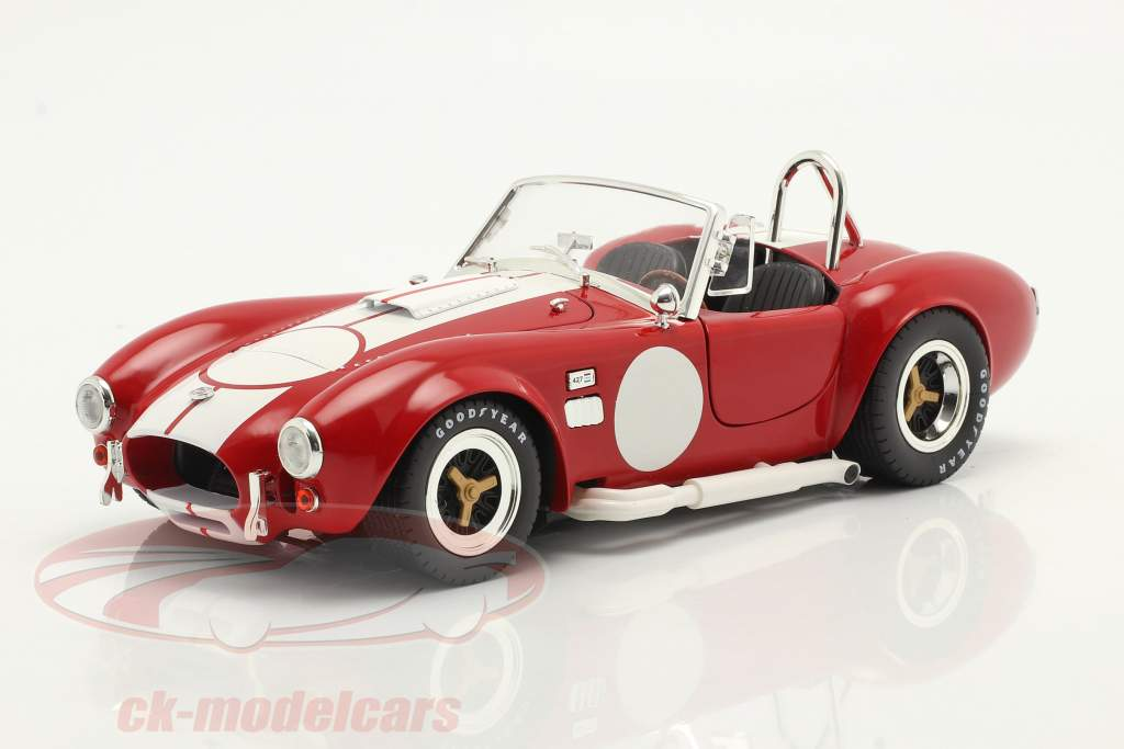 Shelby Cobra 427 S/C bouwjaar 1965 rood / Wit 1:18 ShelbyCollectibles