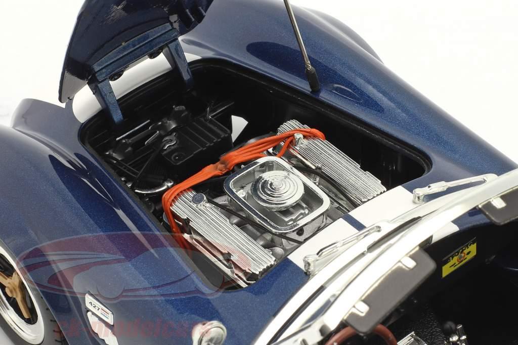 Shelby Cobra 427 S/C Ano de construção 1965 azul / Branco 1:18 ShelbyCollectibles