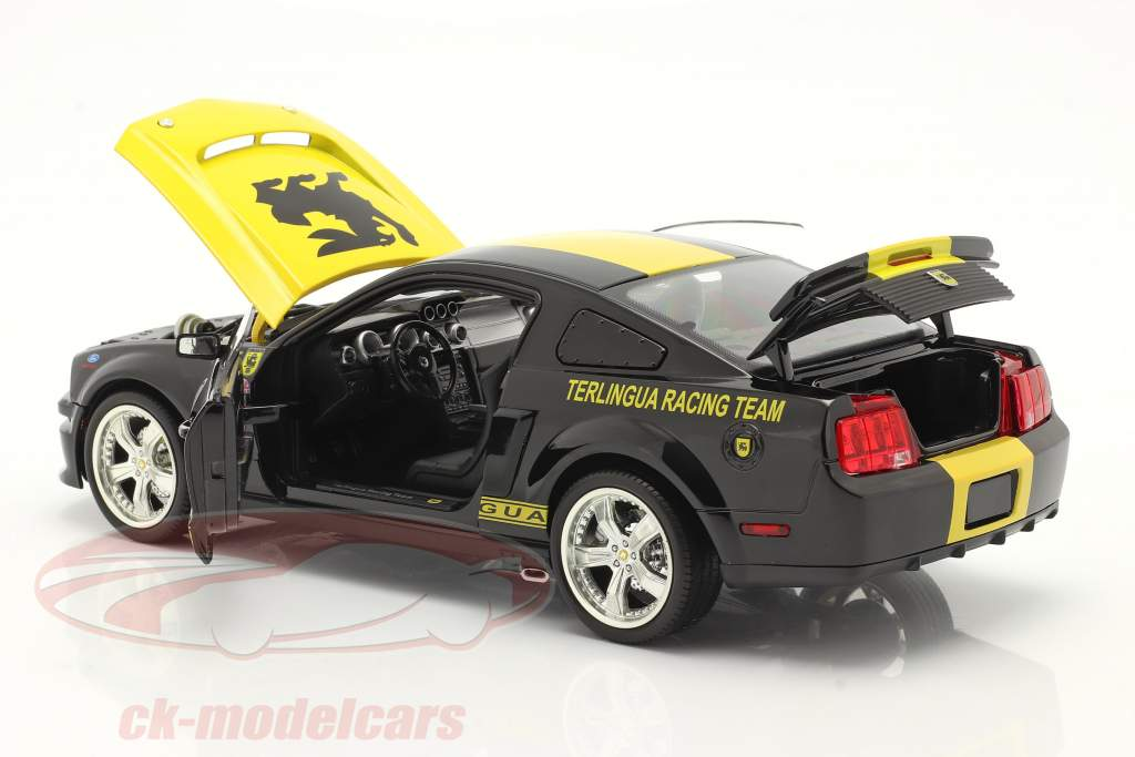 Ford Mustang Shelby GT #08 Terlingua Racing 2008 Preto 1:18 ShelbyCollectibles