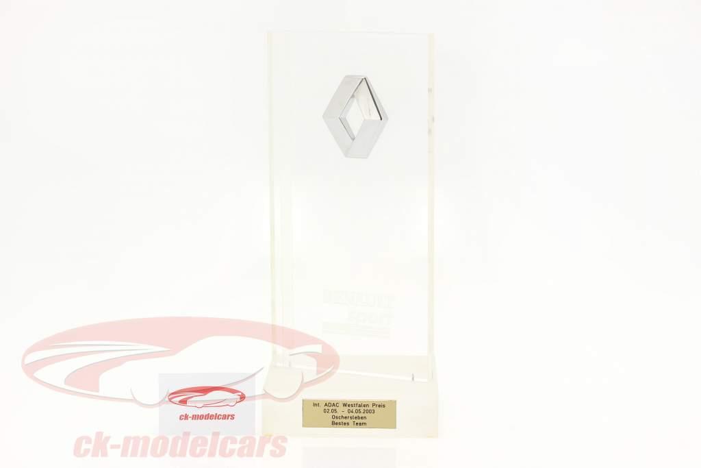 Trophy Gagnant Classement par équipe EuroSpeedway Lausitz formule Renault 2.0 2003