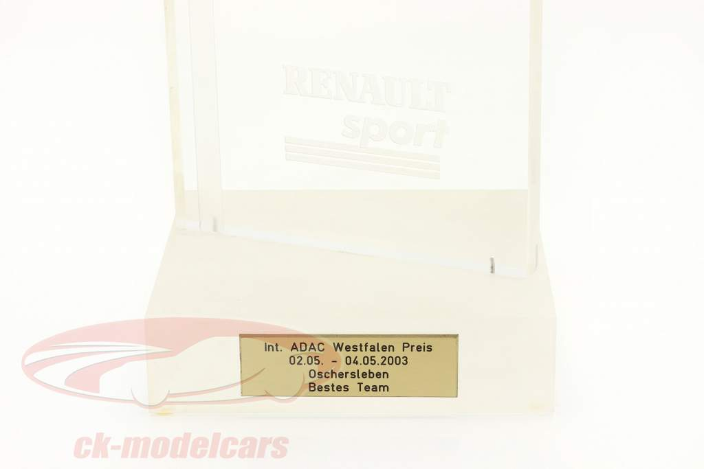 Trophy Vincitore Classifica squadra EuroSpeedway Lausitz formula Renault 2.0 2003