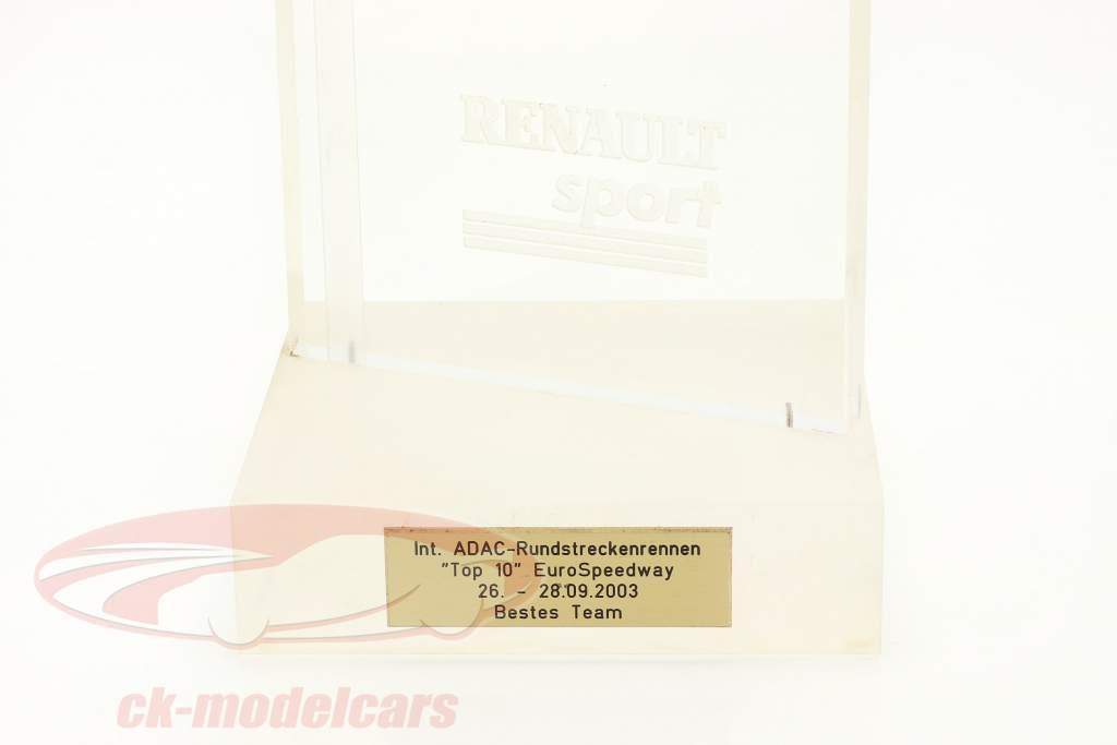 Trophée Gagnant Classement par équipe Prix Westphalie Oschersleben formule Renault 2.0 2003