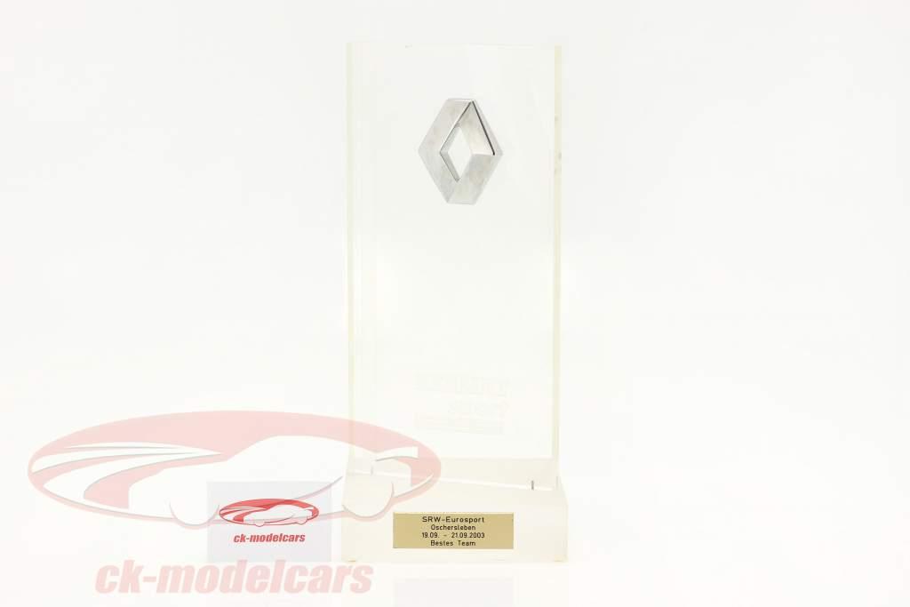 Troféu Vencedora Classificação da equipe Super Racing Weekend Oschersleben Fórmula Renault 2.0 2003