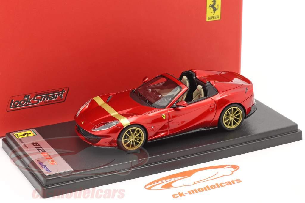 Ferrari 812 GTS Spider bouwjaar 2019 vuur rood / goud 1:43 LookSmart