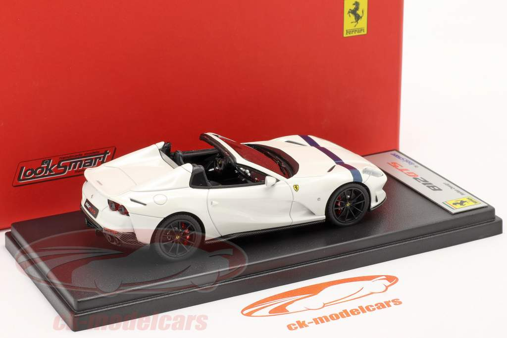 Ferrari 812 GTS Spider Année de construction 2019 italia blanc / bleu 1:43 LookSmart