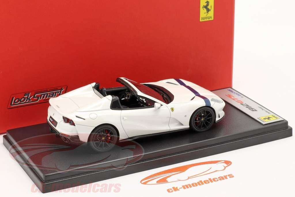 Ferrari 812 GTS Spider Byggeår 2019 italia hvid / blå 1:43 LookSmart