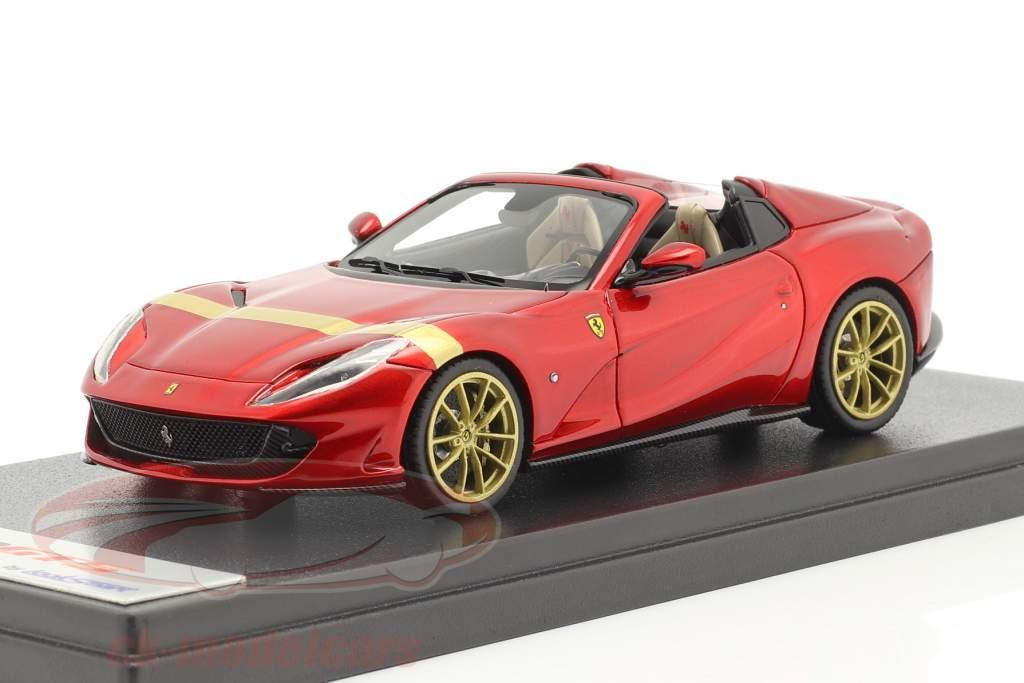 Ferrari 812 GTS Spider Année de construction 2019 rouge feu / or 1:43 LookSmart