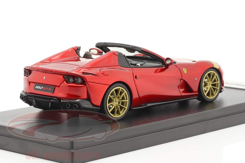Ferrari 812 GTS Spider Anno di costruzione 2019 rosso fuoco / oro 1:43 LookSmart