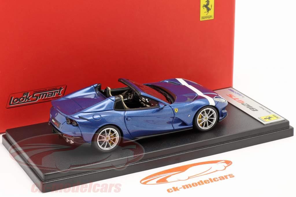 Ferrari 812 GTS Spider Anno di costruzione 2019 blu metallico / bianca 1:43 LookSmart