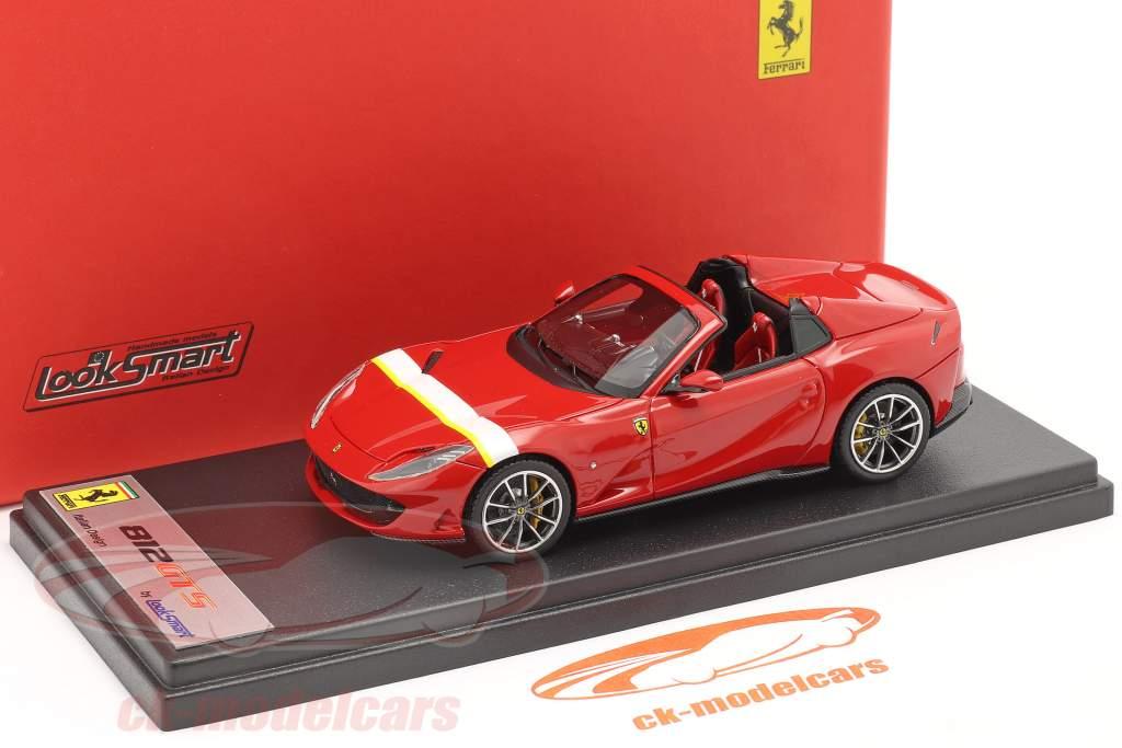 Ferrari 812 GTS Spider bouwjaar 2019 corsa rood / Wit / geel 1:43 LookSmart