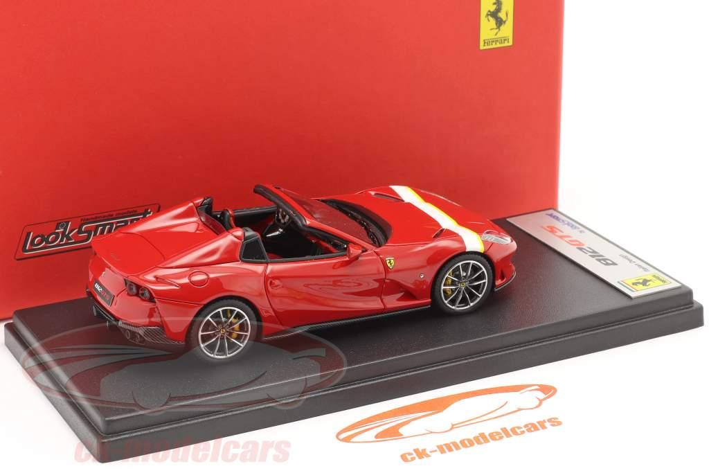 Ferrari 812 GTS Spider Byggeår 2019 corsa rød / hvid / gul 1:43 LookSmart
