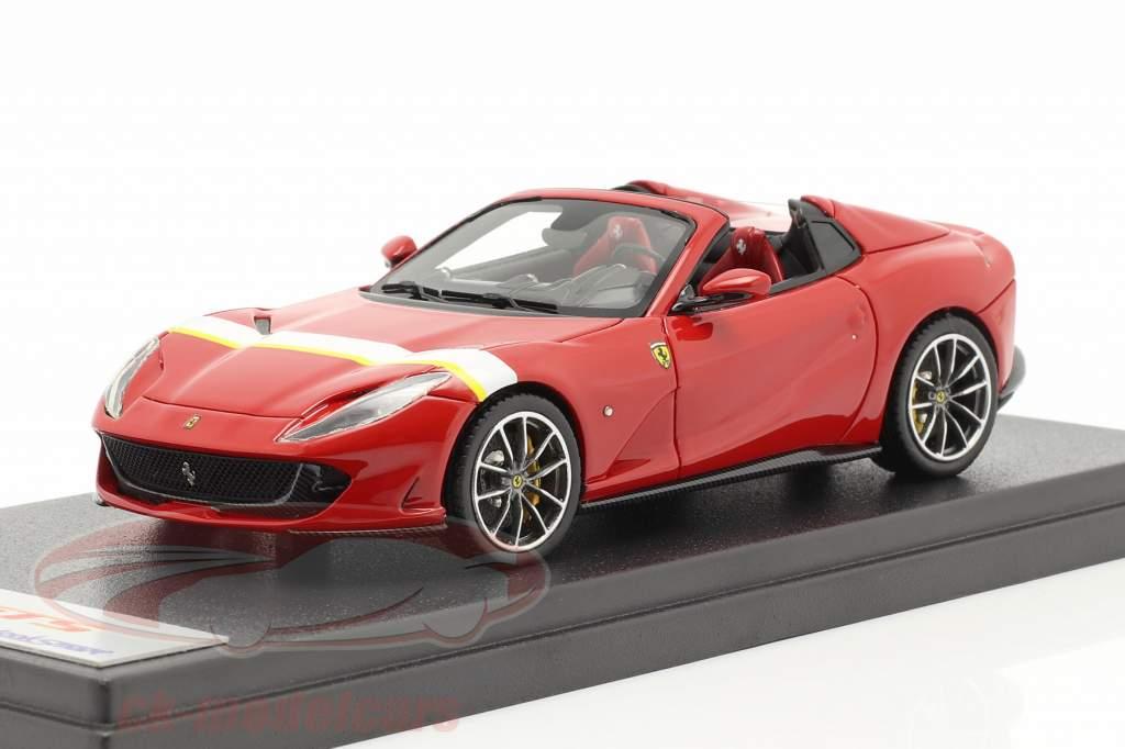 Ferrari 812 GTS Spider Ano de construção 2019 corsa vermelho / Branco / amarelo 1:43 LookSmart