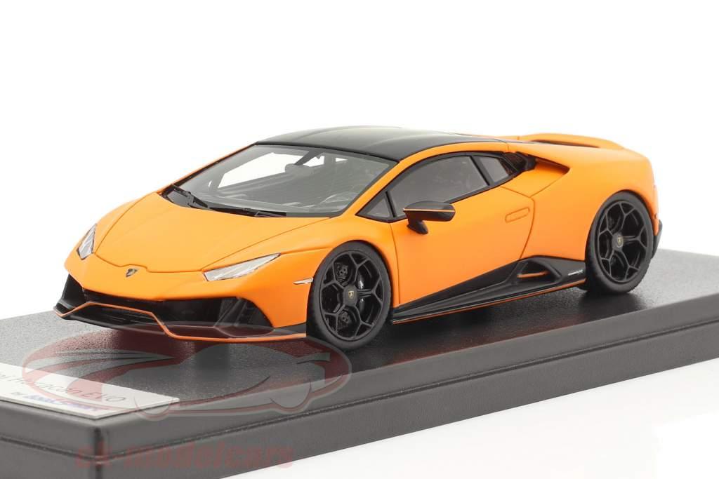 Lamborghini Huracan Evo Fluo Capsule 2020 måtte orange 1:43 LookSmart
