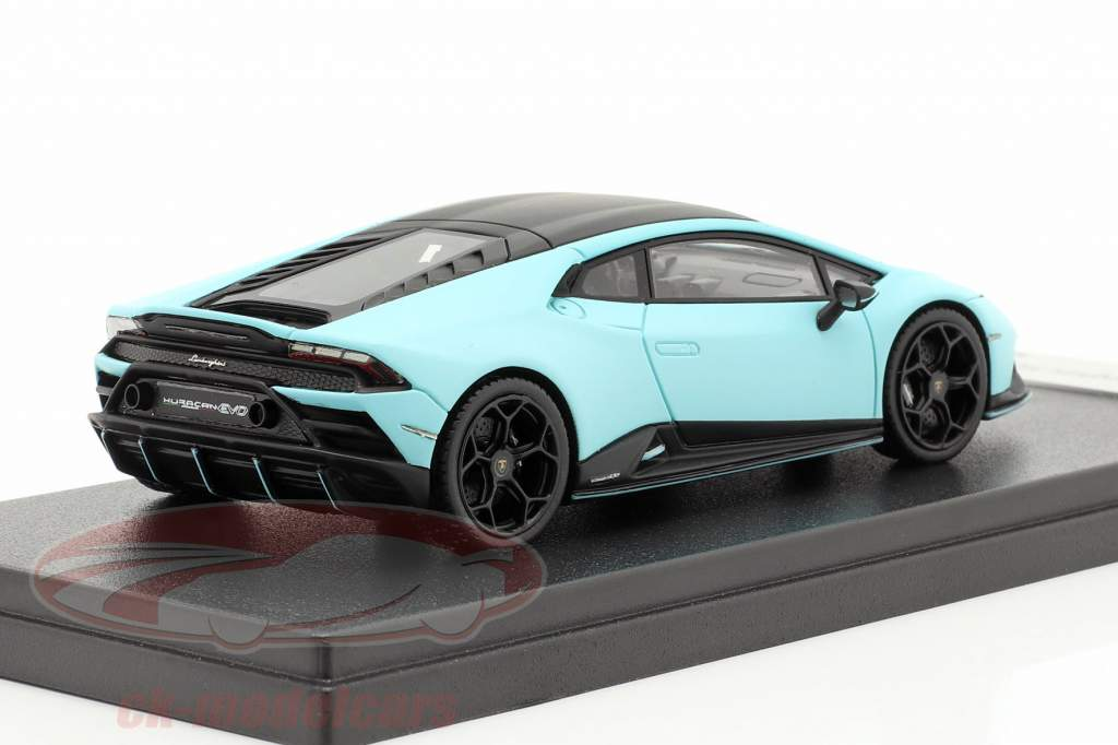 Lamborghini Huracan Evo Fluo Capsule 2020 måtte lys blå 1:43 LookSmart