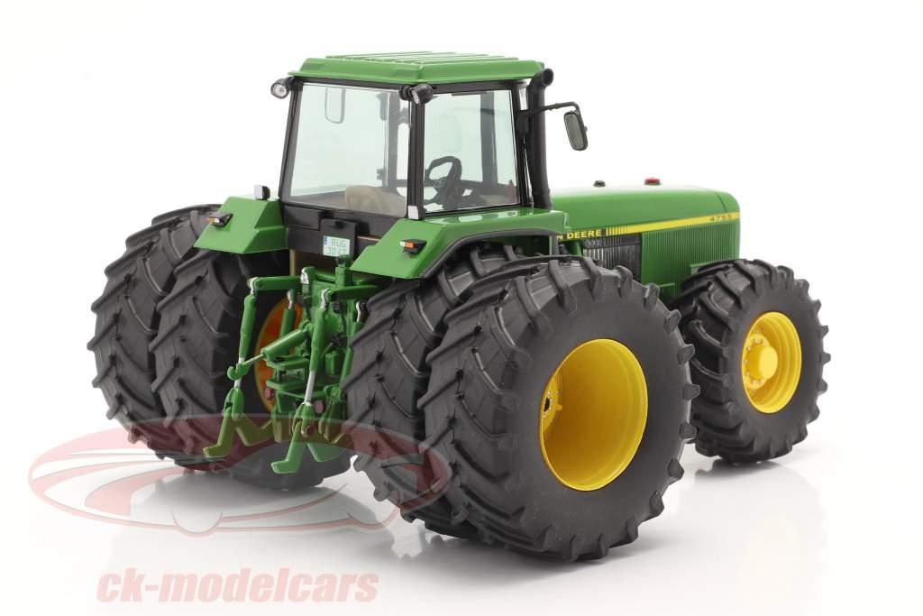 John Deere 4755 trator Com Pneus duplos 1989-1991 verde 1:32 Schuco