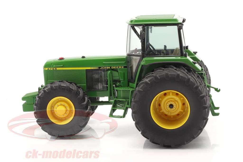 John Deere 4755 tractor Con Neumáticos dobles 1989-1991 verde 1:32 Schuco