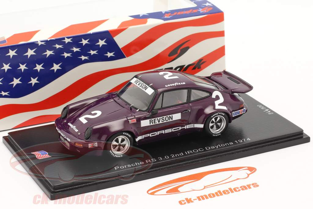 Porsche RS 3.0 #2 2ª IROC Daytona 1974 P. Revson 1:43 Spark