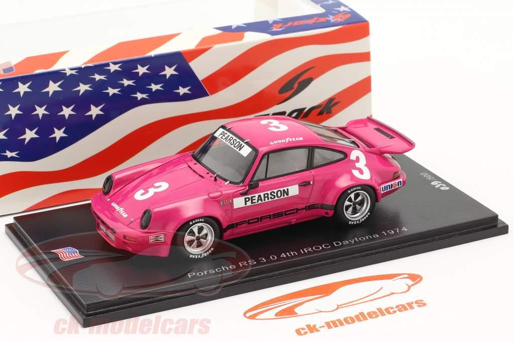 Porsche RS 3.0 #3 4e IROC Daytona 1974 D. Pearson 1:43 Spark