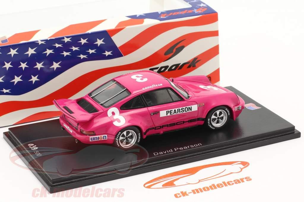 Porsche RS 3.0 #3 4. plads IROC Daytona 1974 D. Pearson 1:43 Spark