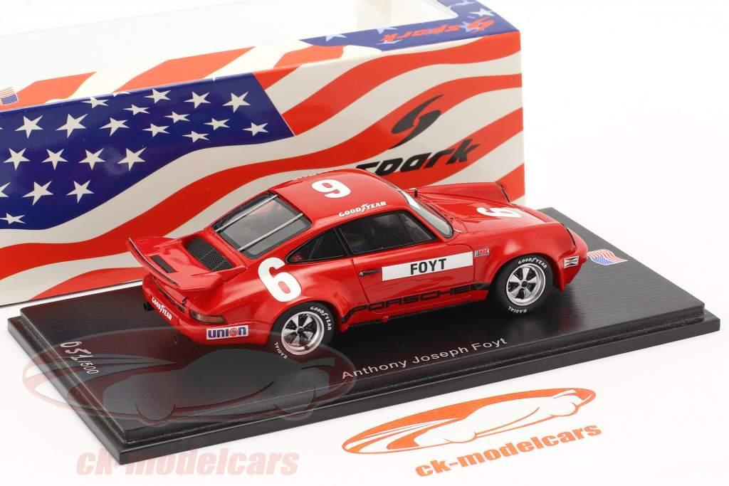 Porsche RS 3.0 #6 Sexto IROC Daytona 1974 A. J. Foyt 1:43 Spark