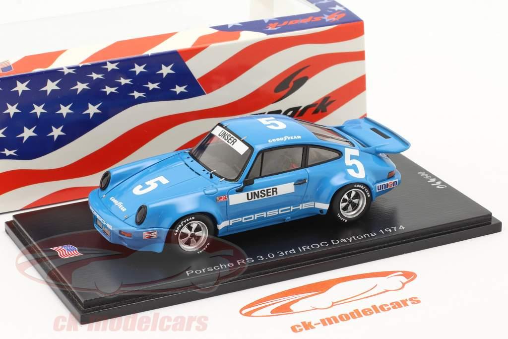 Porsche RS 3.0 #5 3rd IROC Daytona 1974 B. Unser 1:43 Spark