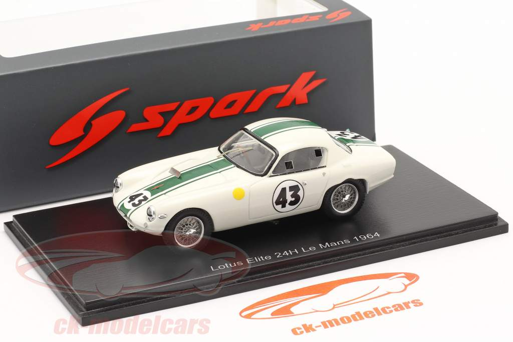 Lotus Elite #43 vinder GT1300 24h LeMans 1964 Hunt, Wagstaff 1:43 Spark