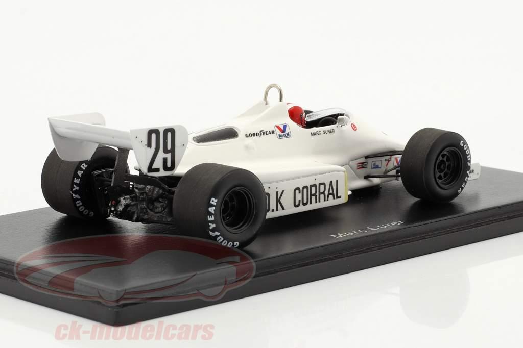 Marc Surer Arrows A6 #29 fransk GP formel 1 1983 1:43 Spark